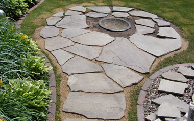Fire pits and other hardscaping